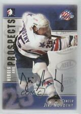 2004-05 In the Game Heroes and Prospects Autographs #A-JN Jiri Novotny Auto Card
