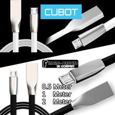 Zinc Alloy 3D Flat Micro USB Charging data Sync Charger Cable FOR Cubot Phones