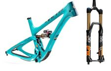 YETI SB5 LR TURQ CARBON RAHMEN KIT MIT 2019 FOX 36 FLOAT 160 FACTORY GRIP2 M-XL