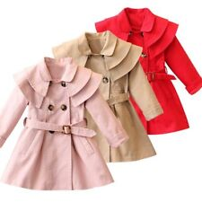 Girls Jackets Children Clothing Trench Hooded Coats Winter Wind Dust Outerwear