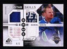 2016-17 Upper Deck SP Game Used All-Star Skills Gear #ASGG-DS Daniel Sedin Card