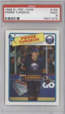 1988-89 O-Pee-Chee #194 Pierre Turgeon PSA 9 MINT Buffalo Sabres RC Hockey Card
