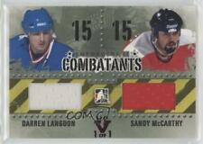 2013 In the Game Enforcers II #C-10 Darren Langdon Sandy McCarthy Calgary Flames