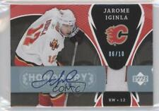 2007 Upper Deck Trilogy Honorary Scripted Patches #SS-JI Jarome Iginla Auto Card