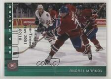 2001-02 In the Game Be A Player Memorabilia #52 Andrei Markov Montreal Canadiens