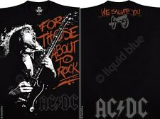 AC DC-FOR THOSE ABOUT TO ROCK-HELLS BELLS-ANGUS-2 Sided TSHIRT M-L-XL-XXL