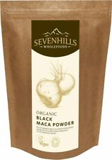 Sevenhills Wholefoods Organic Black Maca Powder | Energy, Fertility