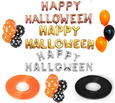 """16"""" Foil Balloons Happy Halloween Letter Party Hanging Balloon Ribbons Polka Dot"""
