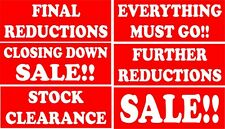Final Reductions Sign - Stock Clearance - Closing Down Sale - Everything Must Go