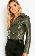 IKRUSH Womens Meggy Faux Leather Jacket