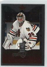 1995-96 Donruss Elite Die-Cut Uncut 20 Ed Belfour Chicago Blackhawks Hockey Card