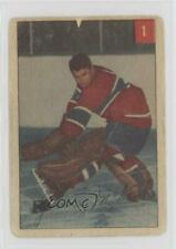 1954-55 Parkhurst #1.1 Gerry McNeil (Base) Montreal Canadiens Hockey Card
