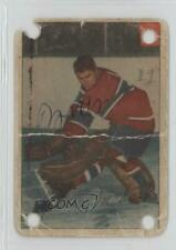 1954-55 Parkhurst 1.2 Gerry McNeil (Premium Back) Montreal Canadiens Hockey Card