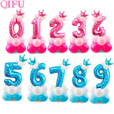 17Pcs Foil Balloons Air Helium Number Figures Balloon Kids Birthday Party Decors