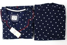 Marks & Spencer Women Pure Cotton Star Print Pyjamas Shirt & Pants Loungewear PJ