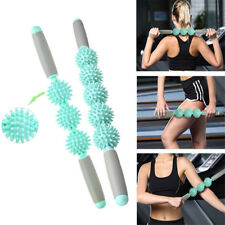 Yoga Spiky Ball Trigger Point Muscle Therapy Stick Roller Spikey Massage HE
