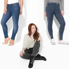 Women Shape Lift Sculpt Mid High Waist Skinny Jeans Ladies Size Stretch Denim