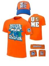 John Cena Never Give Up Wwe Camiseta Gorra Muñequeras Niño Youth Disfraz