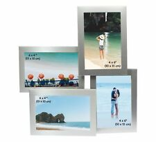 Brushed Aluminium Satin Silver Multi Photo Picture Frame - DIFFERENT STYLES