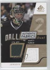 2008-09 SP Game Used Edition Authentic Fabrics Dual Gold #AF-MT Marty Turco Card