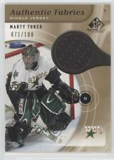 2005 SP Game Used Edition Authentic Fabrics Gold #AF-MT Marty Turco Dallas Stars