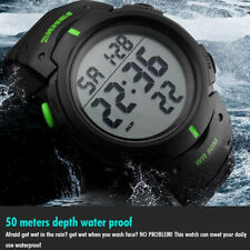 Fashion Men's Waterproof LED Silicone Digital Stopwatch Date Sport Wrist Watch