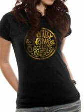 Willy Wonka Gold Foil Logo Fitted T-shirt