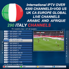 3,6,12 Months International Iptv Subscription Over 4200 Ch+Vod Android MAG M3U