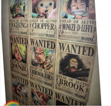 New A3 One Piece - Luffy, Chopper, Wanted Poster - Vintage anime/manga/cosplay