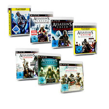 PS3 Juego Assassins Creed 2 3 4 Black Flag Brotherhood Revelations Rogue