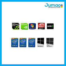 Autocollant logo sticker neuf pour PC Windows 7/10 Pro Intel i3/i7/i5/AMD/Nvidia