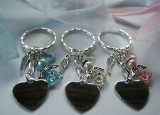 GUARDIAN ANGEL KEYRING BAG CHARM GIFT FEATHERS APPEAR WHEN ANGELS ARE NEAR & bag