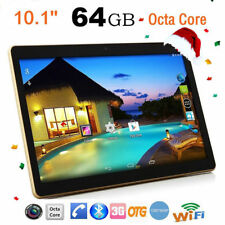 10.1'' Tablet PC Android 7.0 Dual Octa Core 64GB 10Inch HD WIFI 2 SIM 4G Phablet