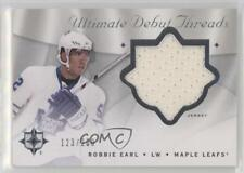2008-09 Ultimate Collection Debut Threads #DT-RE Robbie Earl Toronto Maple Leafs