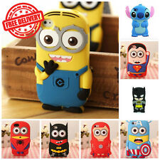 3D Cute Cartoon Case Covers For Apple iPod Touch 4th, 5th & 6th Generation