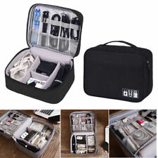 Portable Electronic Accessories Organizer Travel Cable USB Drive Hand Bag Case