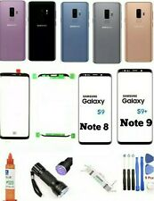 Samsung Galaxy S8 8+ S9 Plus Front Screen Glass Lens Replacement Back Glass Kit