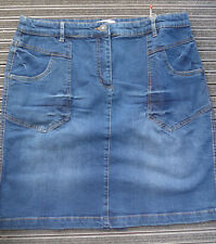 Sheego Elasticizzato Gonna Jeans Gonna in Jeans Tgl 46 - 52 Blue (307) Nuovo