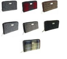 Ladies Authentic 100% Harris Tweed Long Zip Purse Available in 10 Colours New