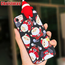 For iPhone 8 7 Plus X 3D Christmas Santa Claus Snowman Phone Case Cover Gift