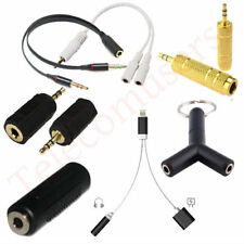 All Type Audio Adapter Coupler 3.5mm 2.5mm male female Jack For Mobile Phone PDA