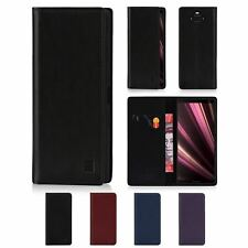 32nd Classic Series - Real Leather Book Wallet Case Cover For Sony Xperia XA3