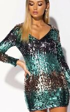 IKRUSH Womens Lois Sequin Embellished Mini Dress