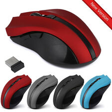 Cordless Wireless 2.4GHz Optical Mouse Mice for Laptop PC Computer +USB Receiver