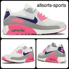 NIKE WOMEN'S AIR MAX 90 ULTRA 2.0 FLYKNIT 881109-101 WHITE PINK