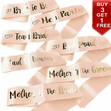 Bride To Be Bridesmaid Sash Hen Party Sashes Hen Do Girls Night Out Accessories