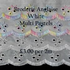 Dovecraft Broderie Anglais Flat Lace 2m x