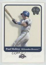 2001 Fleer Greats of the Game #4 Paul Molitor Milwaukee Brewers Baseball Card