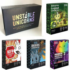 Unstable Unicorns + NFSW Pack With Other Expansion Packs Party Card Game