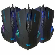 FORKA Silent Click 6 Buttons Wired Gaming Mouse USB Mute LED Optical Cable Gamer